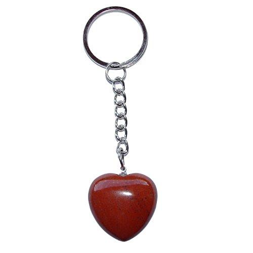 jaspis rot herz schluesselanhaenger ca 25 mm mit kette und schluesselring ca 85 mm geschenk der herzlichkeit und liebe 4029 - Jaspis rot Herz Schlüsselanhänger ca. 25 mm mit Kette und Schlüsselring ca. 85 mm Geschenk der Herzlichkeit und Liebe.(4029)