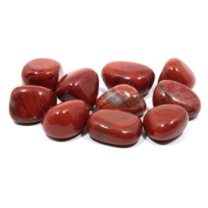 rot jaspis trommelstein 20 25mm 5er pack - Rot Jaspis Trommelstein (20-25mm) 5er Pack